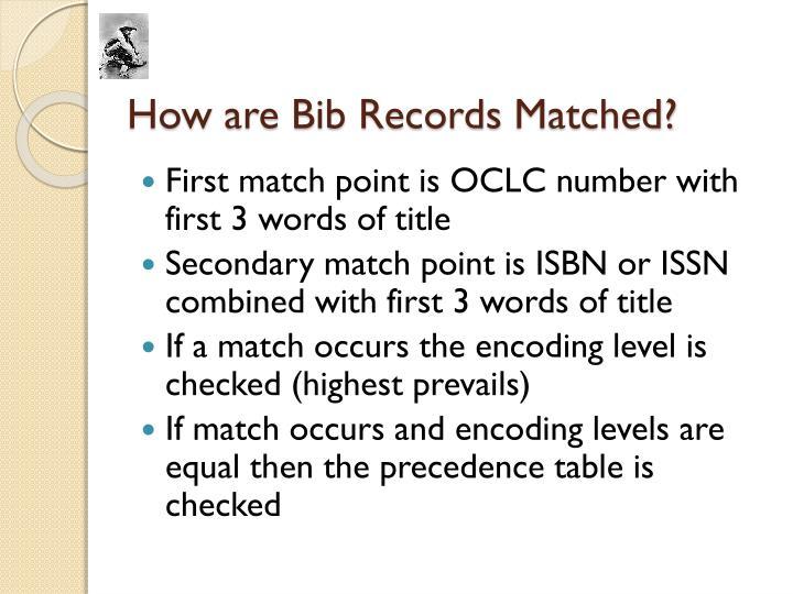 How are Bib Records
