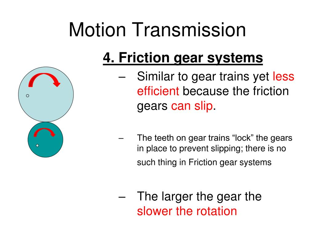 PPT - Motion Transmission Systems PowerPoint Presentation