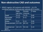 non obstructive cad and outcomes