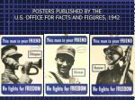 posters published by the u s office for facts and figures 1942
