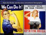 rosie the riveter and the more conventional stenographer