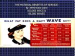 the material benefits of service by 1944 there were 100 000 wacs 86 000 waves