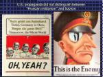 u s propaganda did not distinguish between prussian militarism and nazism