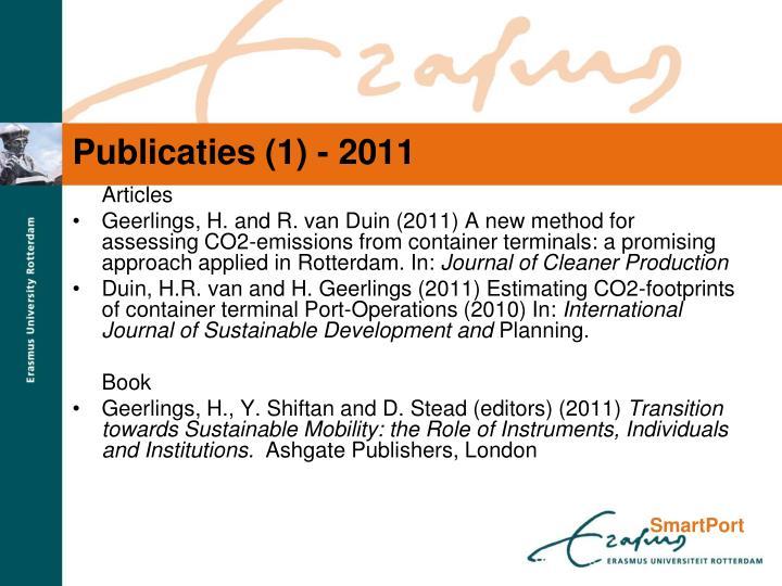 Publicaties (1) - 2011