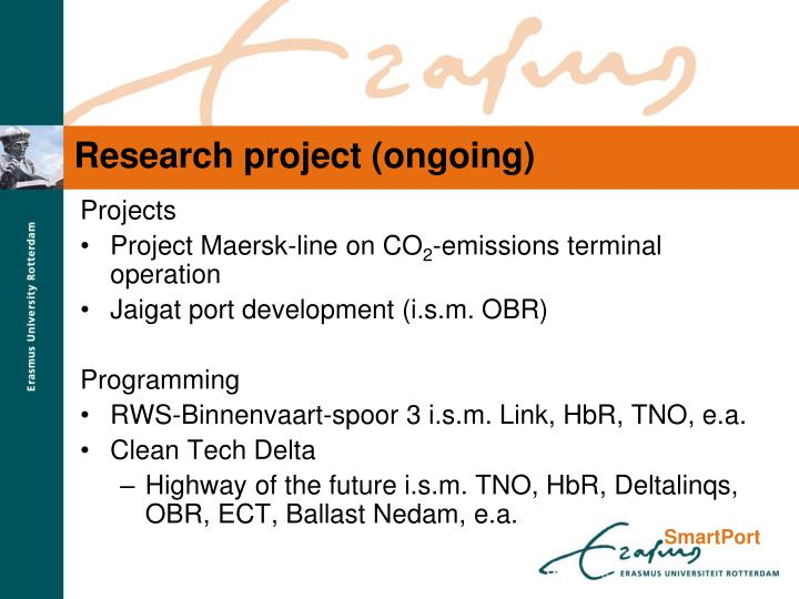 Research project (ongoing)