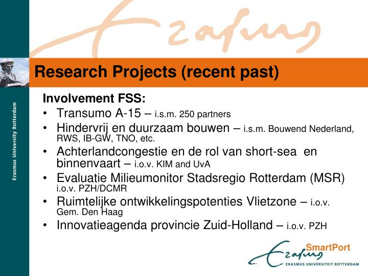Research projects recent past