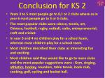 conclusion for ks 2