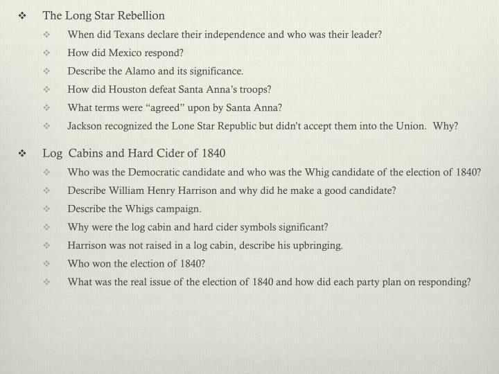 The Long Star Rebellion