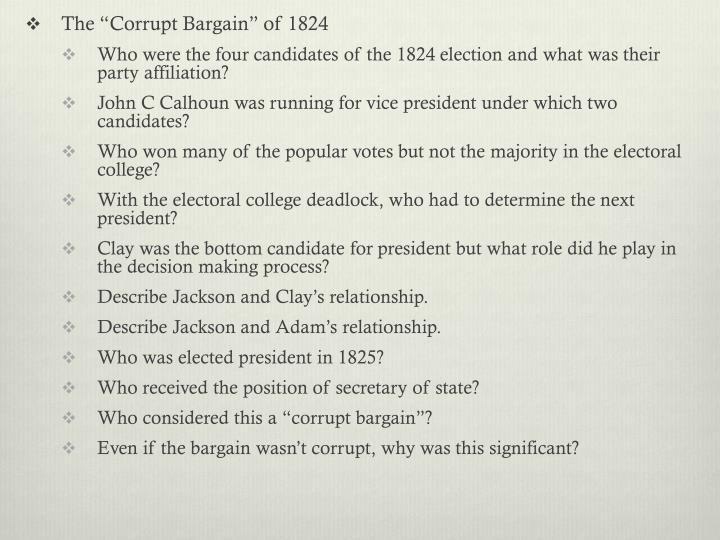 "The ""Corrupt Bargain"" of 1824"