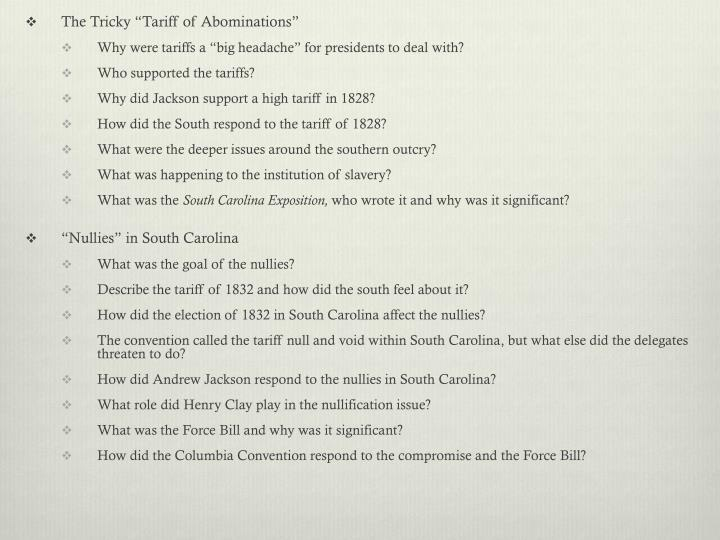 """The Tricky """"Tariff of Abominations"""""""