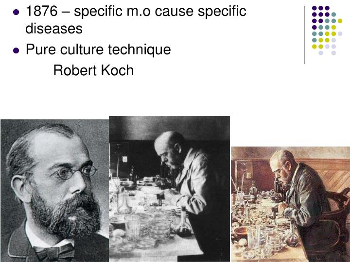 1876 – specific m.o cause specific diseases