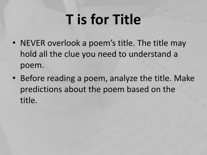 """analysis of the poem """"the brocken The process of analyzing poetry is all about delving into form and meter, as well as theme, setting, and character you should also consider the language, imagery, style, and context of the poem to better understand it with enough patience and attention, you can learn."""