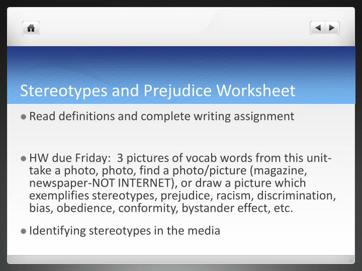 stereotypes and prejudice 3 essay The tools you need to write a quality essay or term paper saved essays you have not saved any essays topics in this paper - stereotypes are based on prejudice.