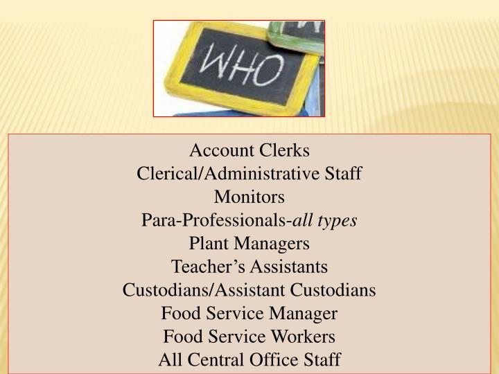 Account Clerks
