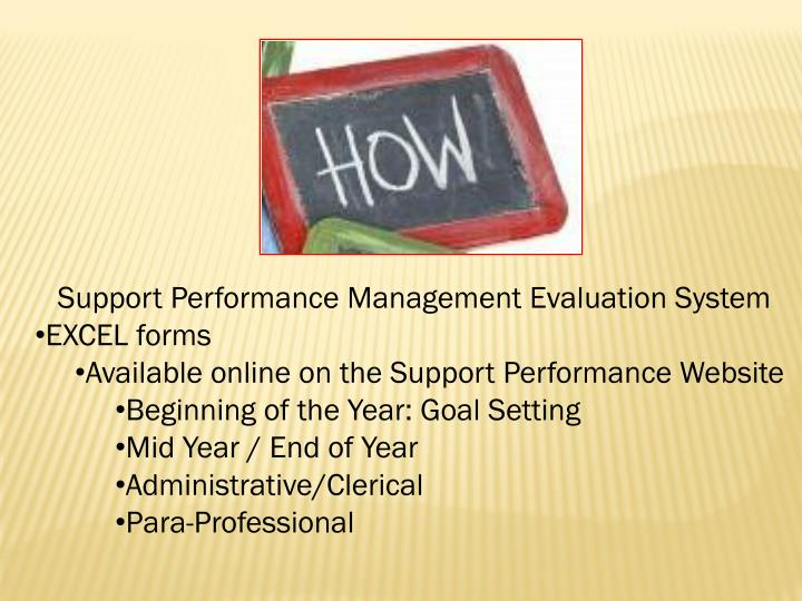 Support Performance Management Evaluation System