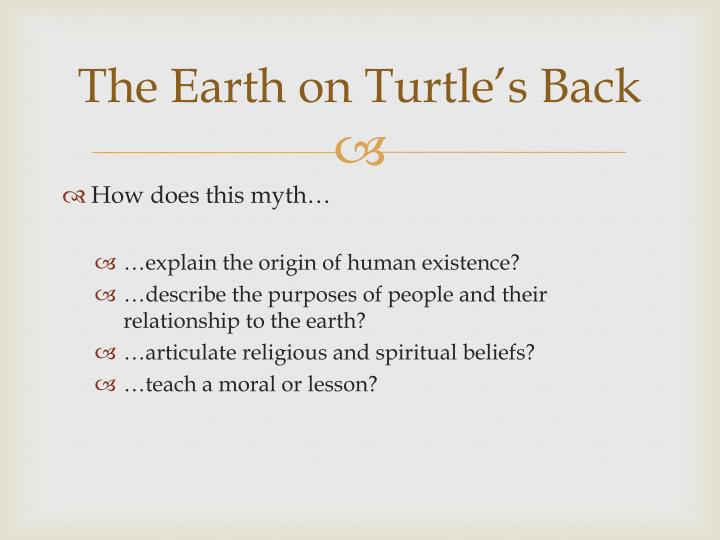 The Earth on Turtle's Back