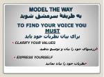 to find your voice you must