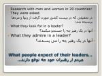 what people expect of their leaders1