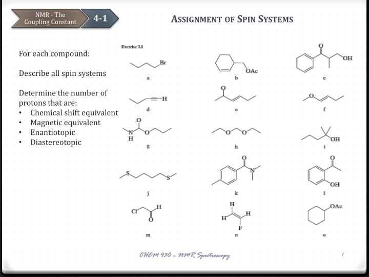 assignment of spin systems n.