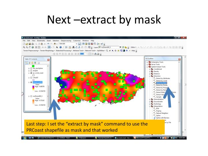 Next –extract by mask