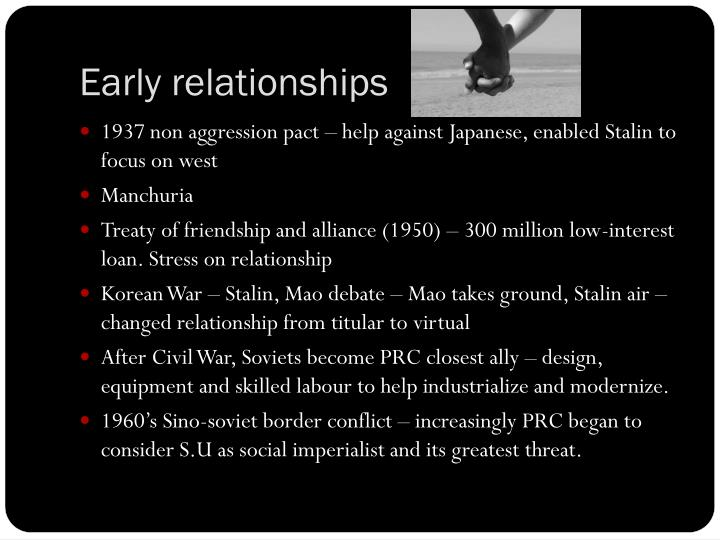 Early relationships