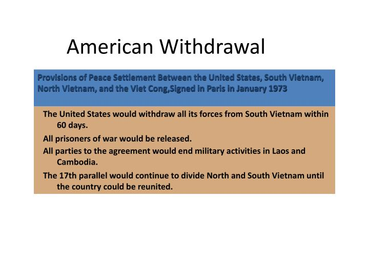 American Withdrawal