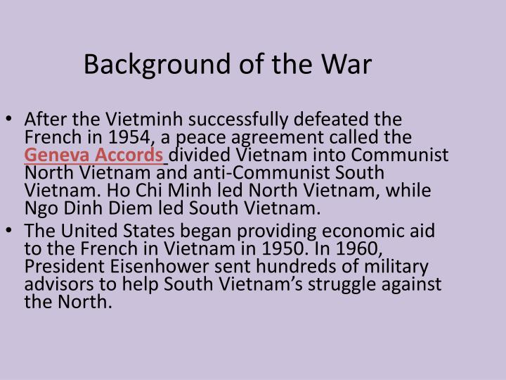 Background of the War