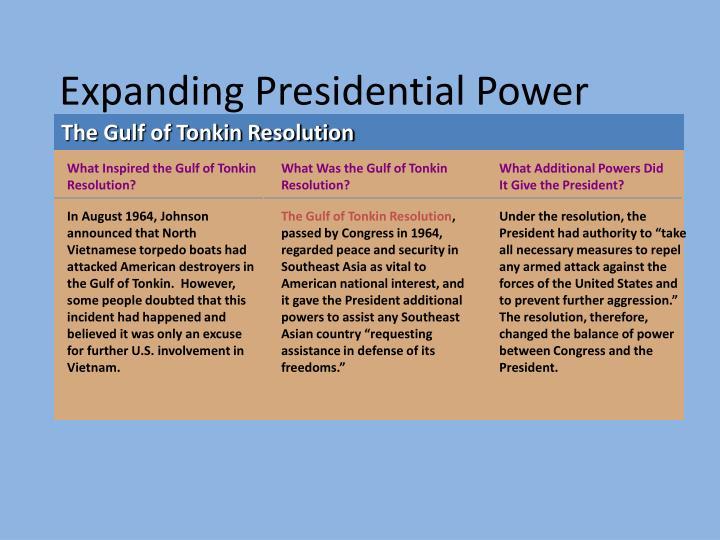 Expanding Presidential Power