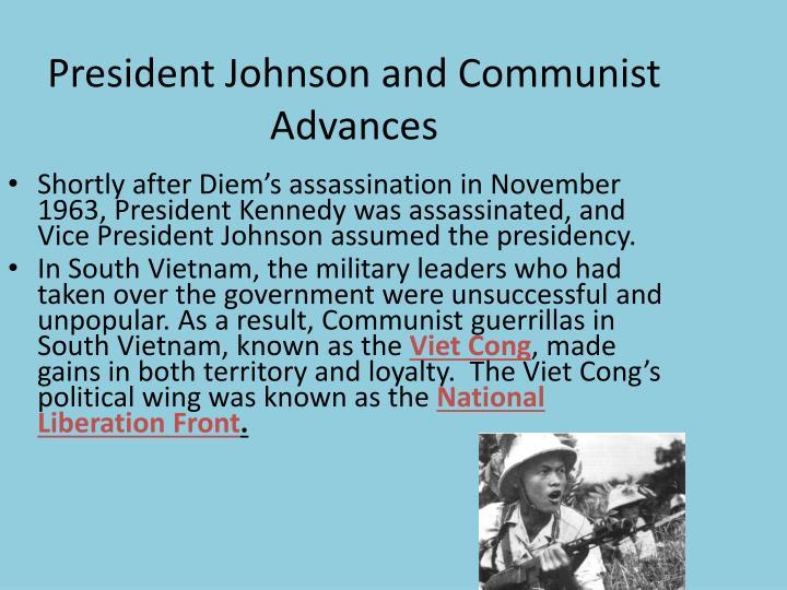 President Johnson and Communist Advances