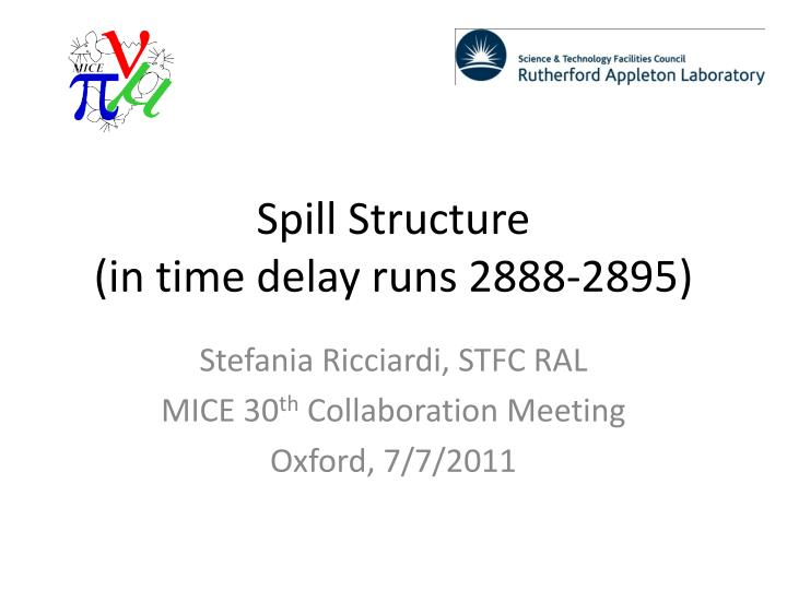 Spill structure in time delay runs 2888 2895