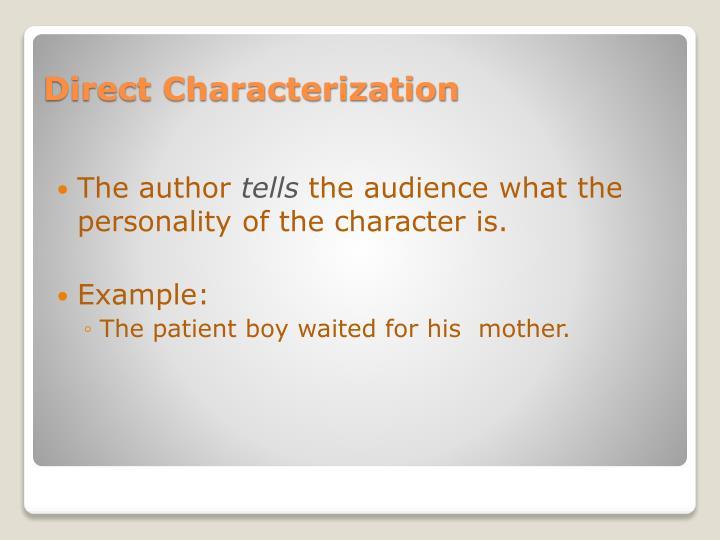 Direct characterization1