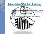 roles of the officials in sprinting