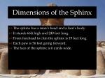 dimensions of the sphinx