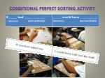 conditional perfect sorting activity