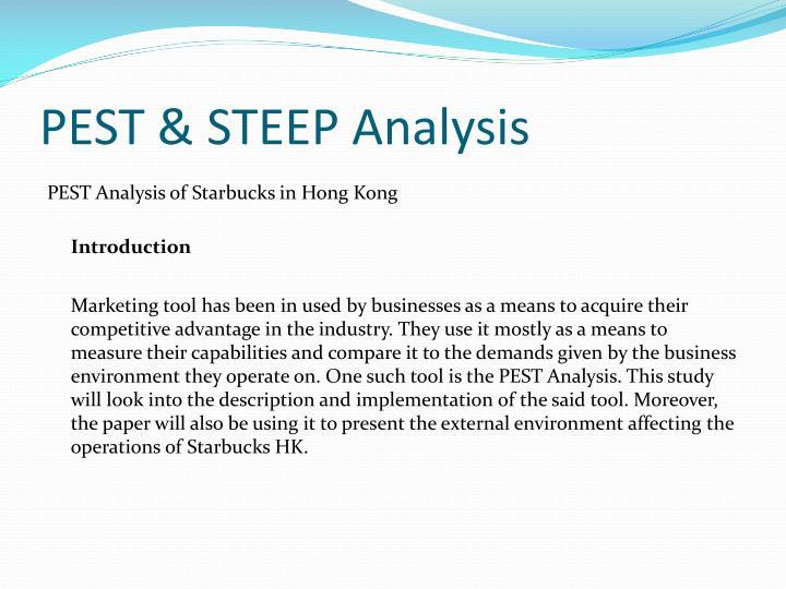 PEST & STEEP Analysis