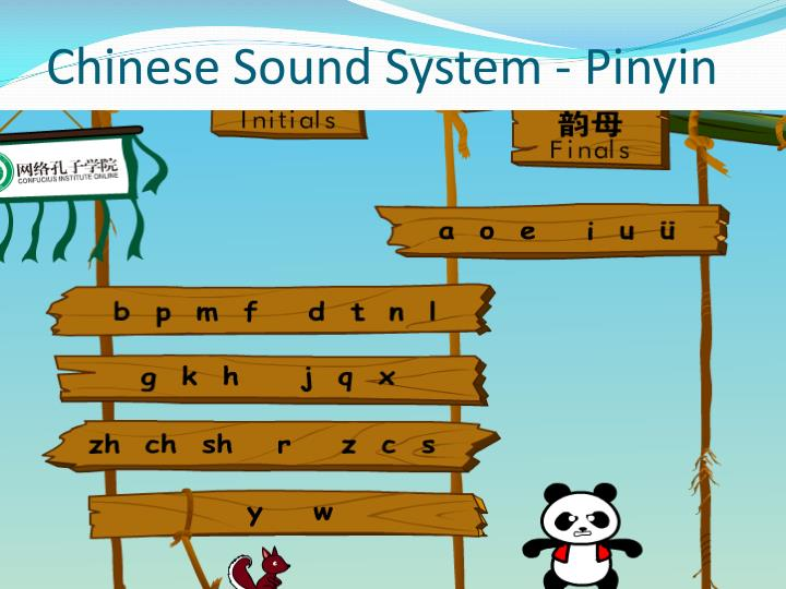 Chinese Sound System - Pinyin