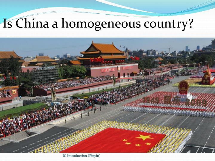 Is China a homogeneous country?