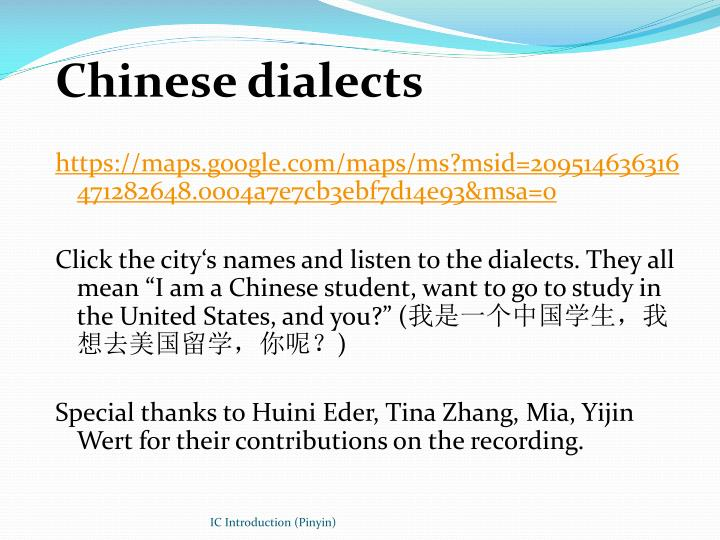 Chinese dialects