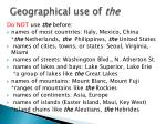 geographical use of the