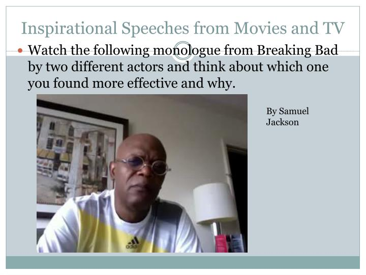 Inspirational Speeches from Movies and TV