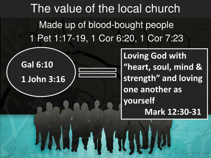 The value of the local church