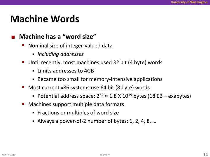 Machine Words