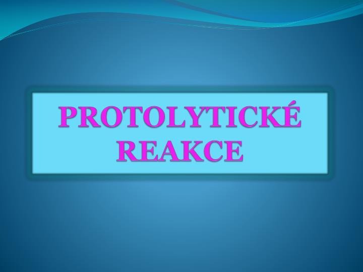 Protolytick reakce