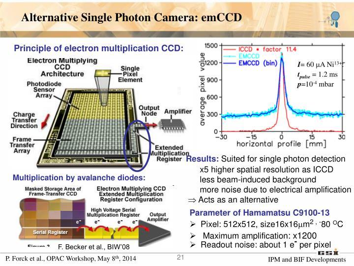Alternative Single Photon Camera: emCCD
