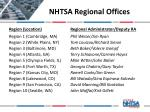nhtsa regional offices