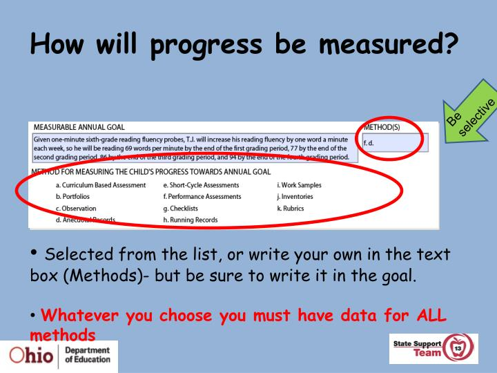 How will progress be measured?