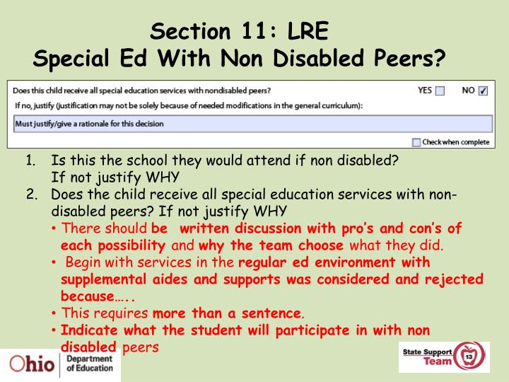 Section 11: LRE