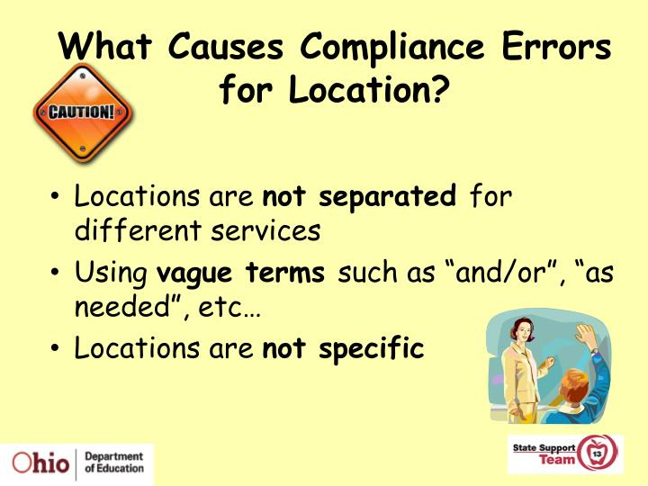 What Causes Compliance Errors for Location?