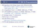 fy 09 10 procurements