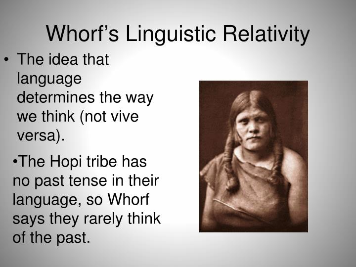 Whorf's Linguistic Relativity